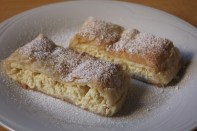 Strudels with a sweet cottage cheese filling.