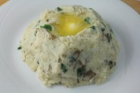 Irish-style mashed potatoes with scallions and finished with a pool of butter.