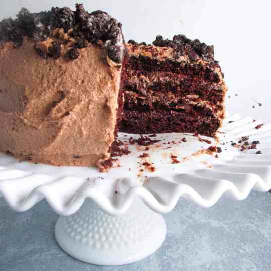 Triple Chocolate Fudge Layer Cake
