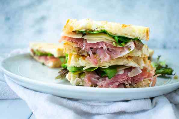 sandwich on a white plate