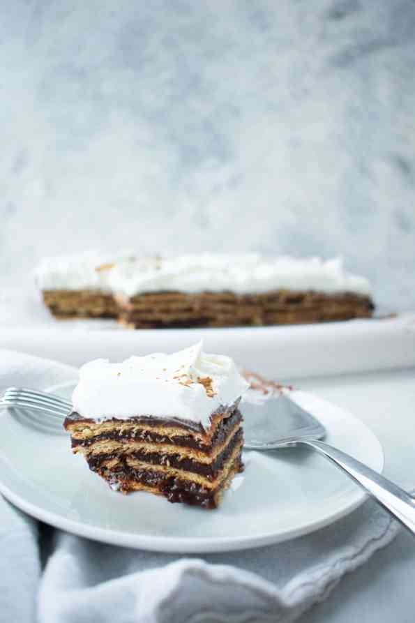 layer cake on a white background