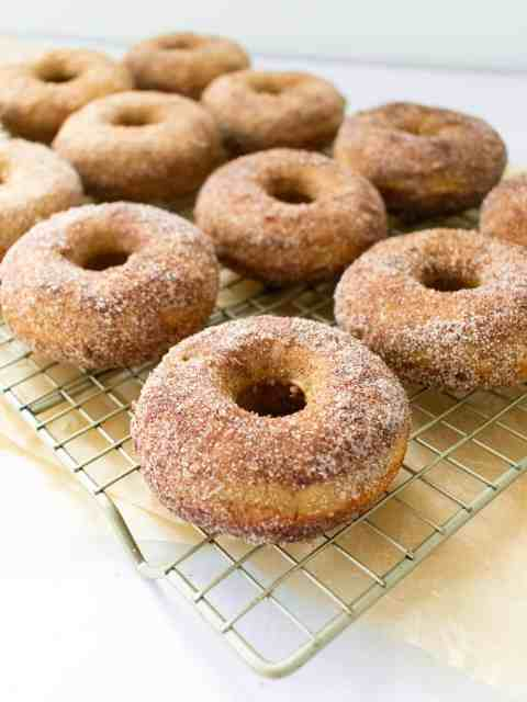 doughnuts on a tray
