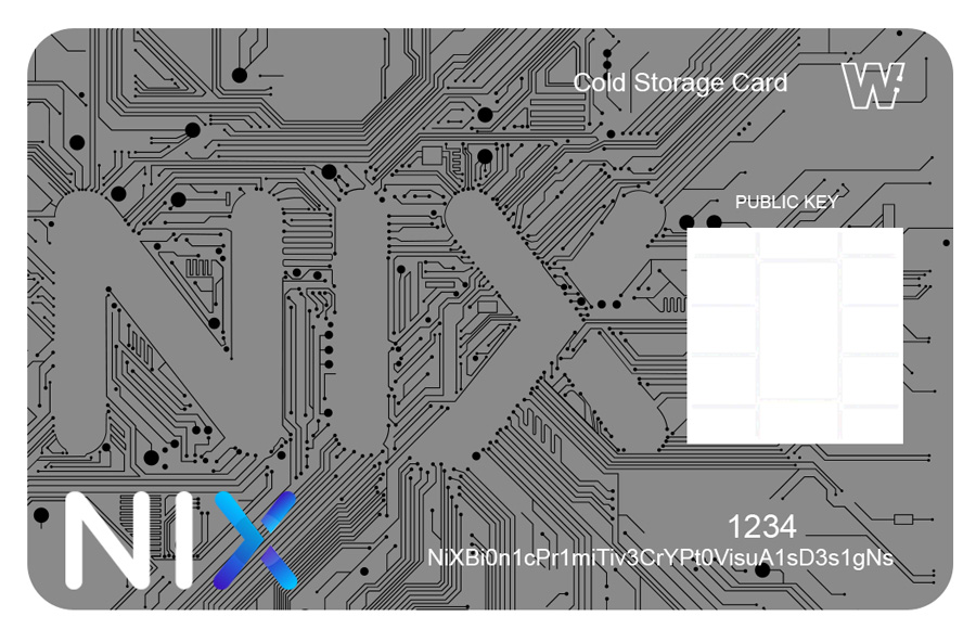 Bitgraphix-Nix-Platform-Cold-Storage-Card-Sketch-black-circuit-lines-on-grey