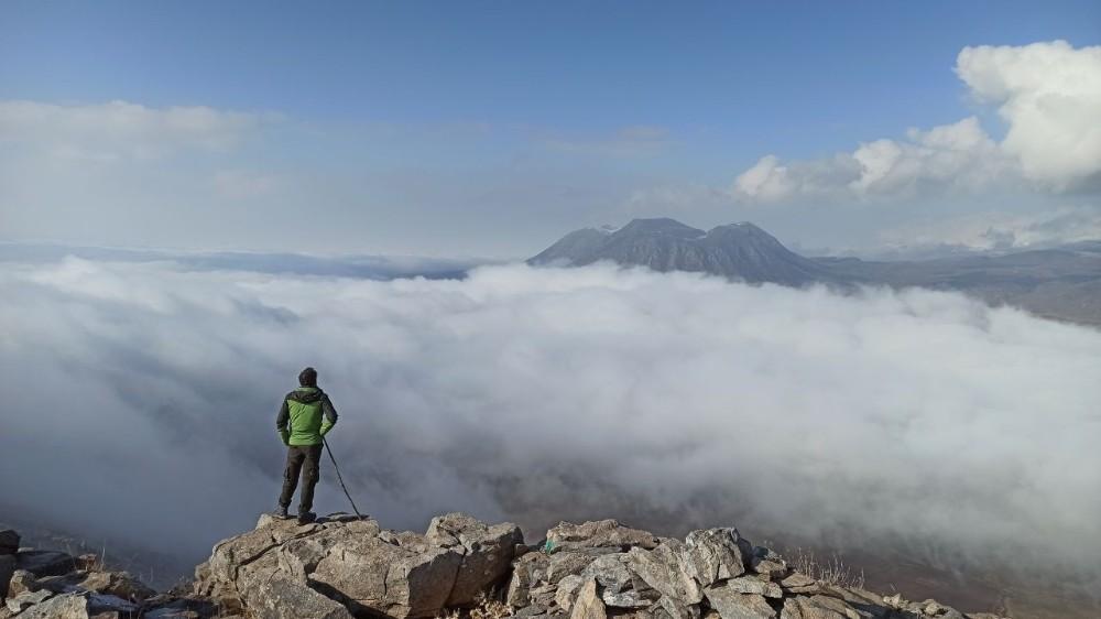 (Özel) Rahva Ovası'nın ve Atatürk Dağı'nın sis altındaki muhteşem görüntüsü