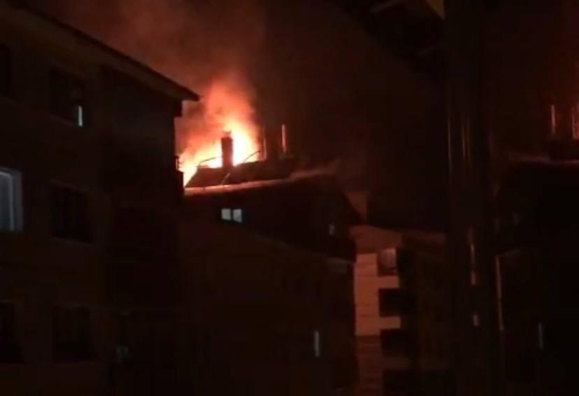 Tatvan'da çatı yangını
