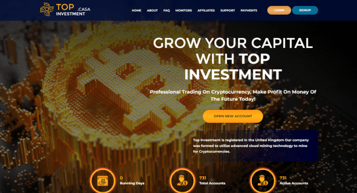 Topinvestment.casa Review
