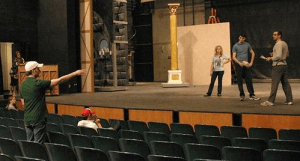 acting onstage