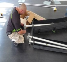 ATTACHING TOP CLAMPS TO PIPE AND DRAPE UPRIGHTS