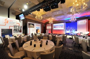ROOMWRAP AOO EVENTS HSBC DINNER BEVERLY HILLS HILTON KEDAR WITH PIPE AND BASE