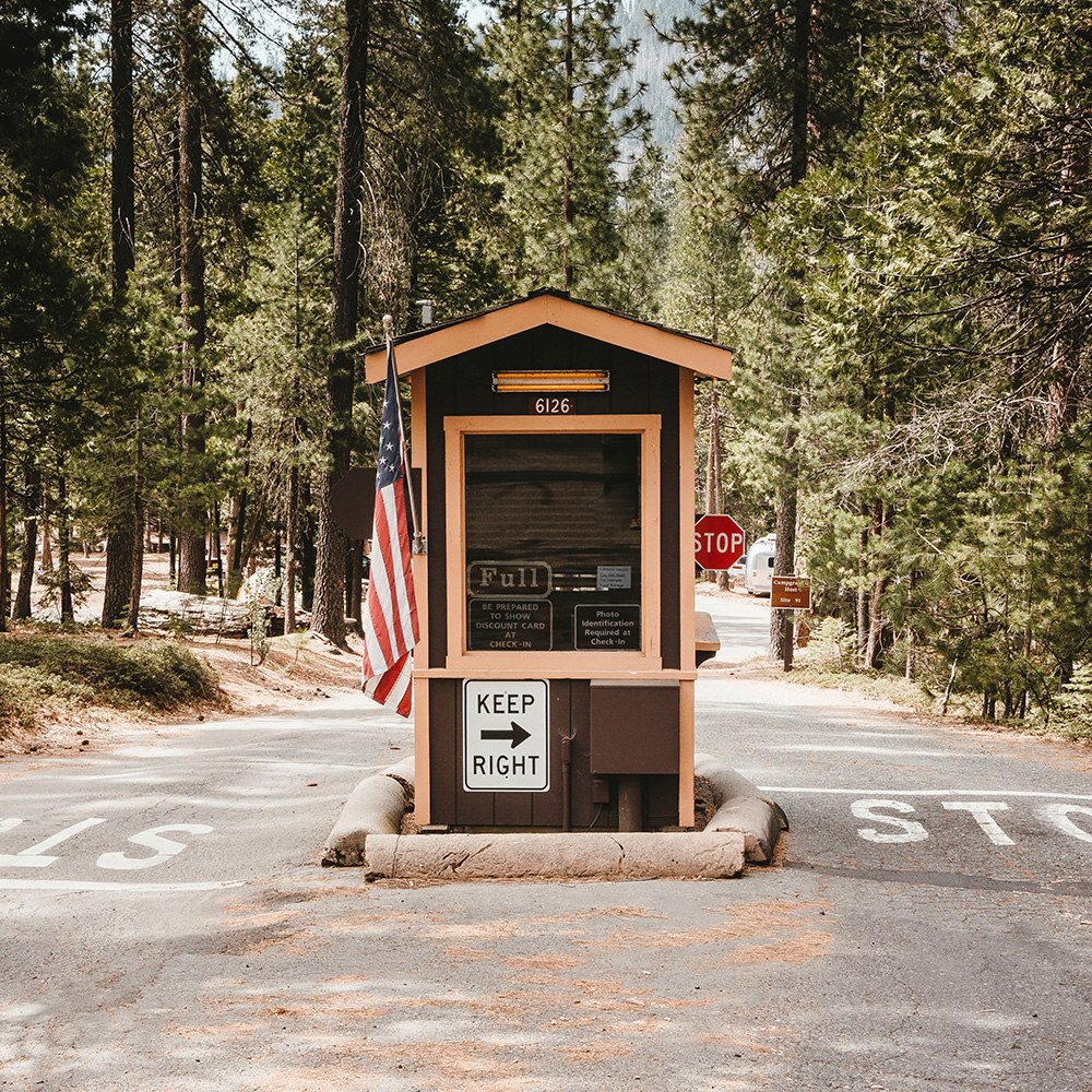 campground entrance gate