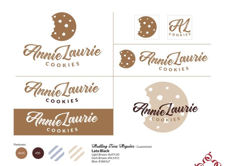 AnnieLaurie Cookies Logo Sheet