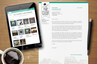 Little Latin Readers Stationery and Responsive eCommerce Website