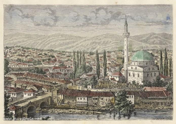View toward Isak Mosque H.Catenacci Monastir (Bitola) 1878