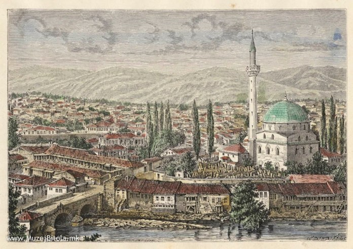 View toward Isak Mosque H.Catenacci Monastir (Bitola) 1878
