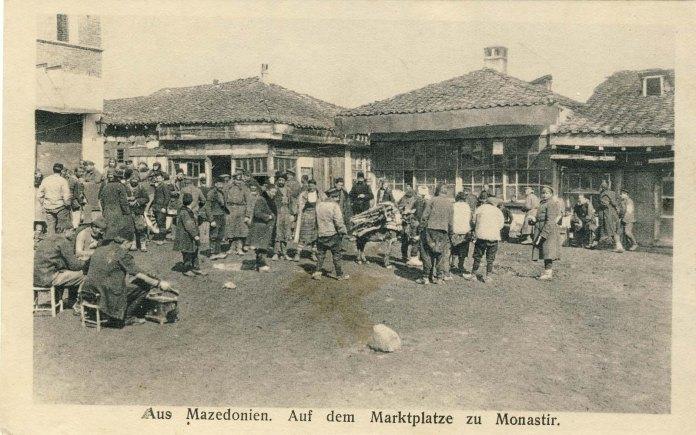 Jewish bazaar, Bitola, 1915