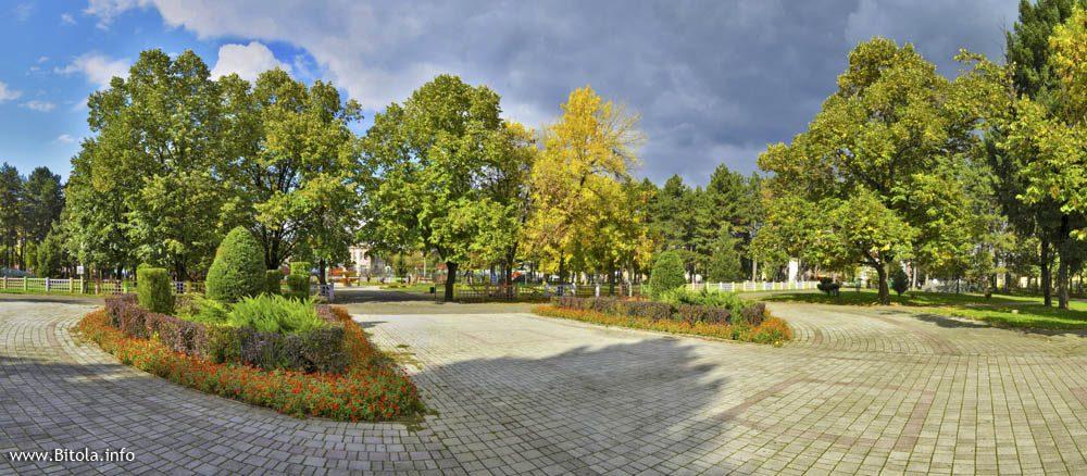 bitola city park panorama