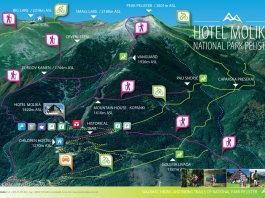 hiking on pelister map