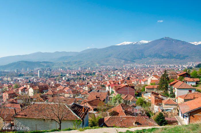 Panorama of Bitola from Krkardash - 40 Holy Martyrs Church, Bitola, Macedonia