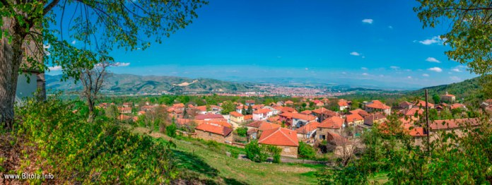 View from St. Dimitrij church, village Brusnik, Bitola, Macedonia