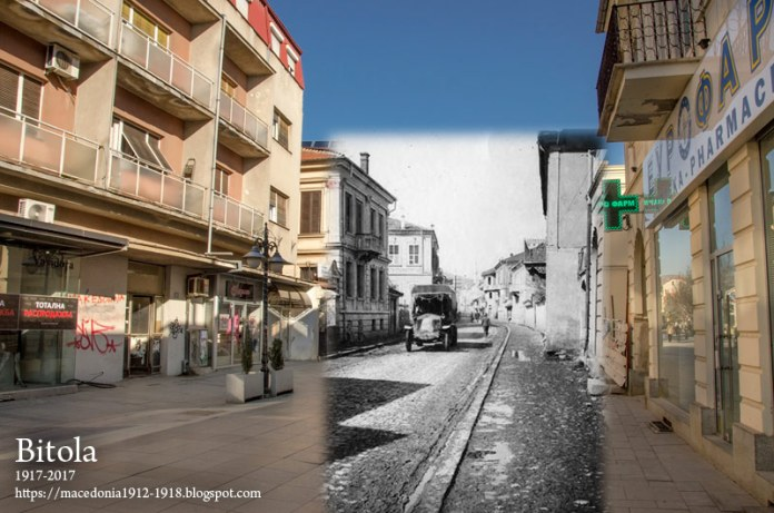 Shirok Sokak Street in Bitola during WW1