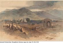 Цртеж од Едвард Лир направен при неговата посета на Битола