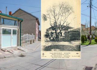 """""""Чинарот"""" на разгледница од 1917/18 година - Битола некогаш и денес"""