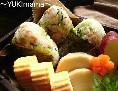 お弁当に~ツナと大根葉のおにぎり(常備菜)