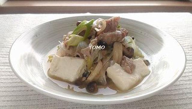 豚肉と豆腐の中華煮