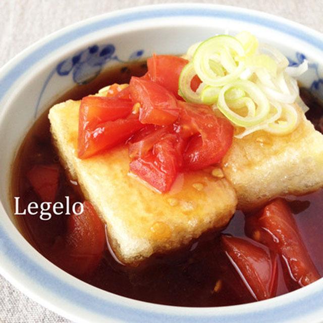 酸っぱいトマトの厚揚げ豆腐