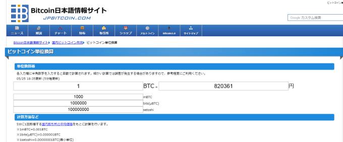 satoshiを円に換算