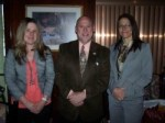 Left to right are Kristen Scianna, Rotary District Governor Elect, Rick Bassett, and Robyn Vartelas.