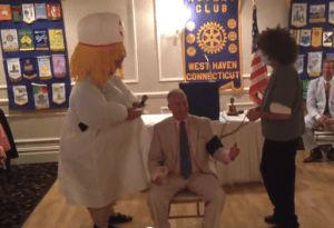 Outgoing West Haven President John Ambrusco and friends
