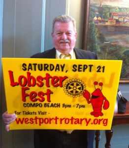 AG John Hendrickson promoting Westport's Lobsterfest
