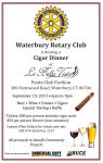 Waterbury Rotary Cigar Dinner on  9/19