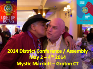 DGE Mukund Nori & DG Rick Bassett marry the District Conference and Assembly for the very first time