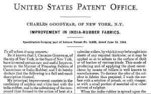 Charles Goodyear Patent 3633