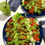 Fajita Chopped Salad with Avocado Cilantro Jalapeno Dressing