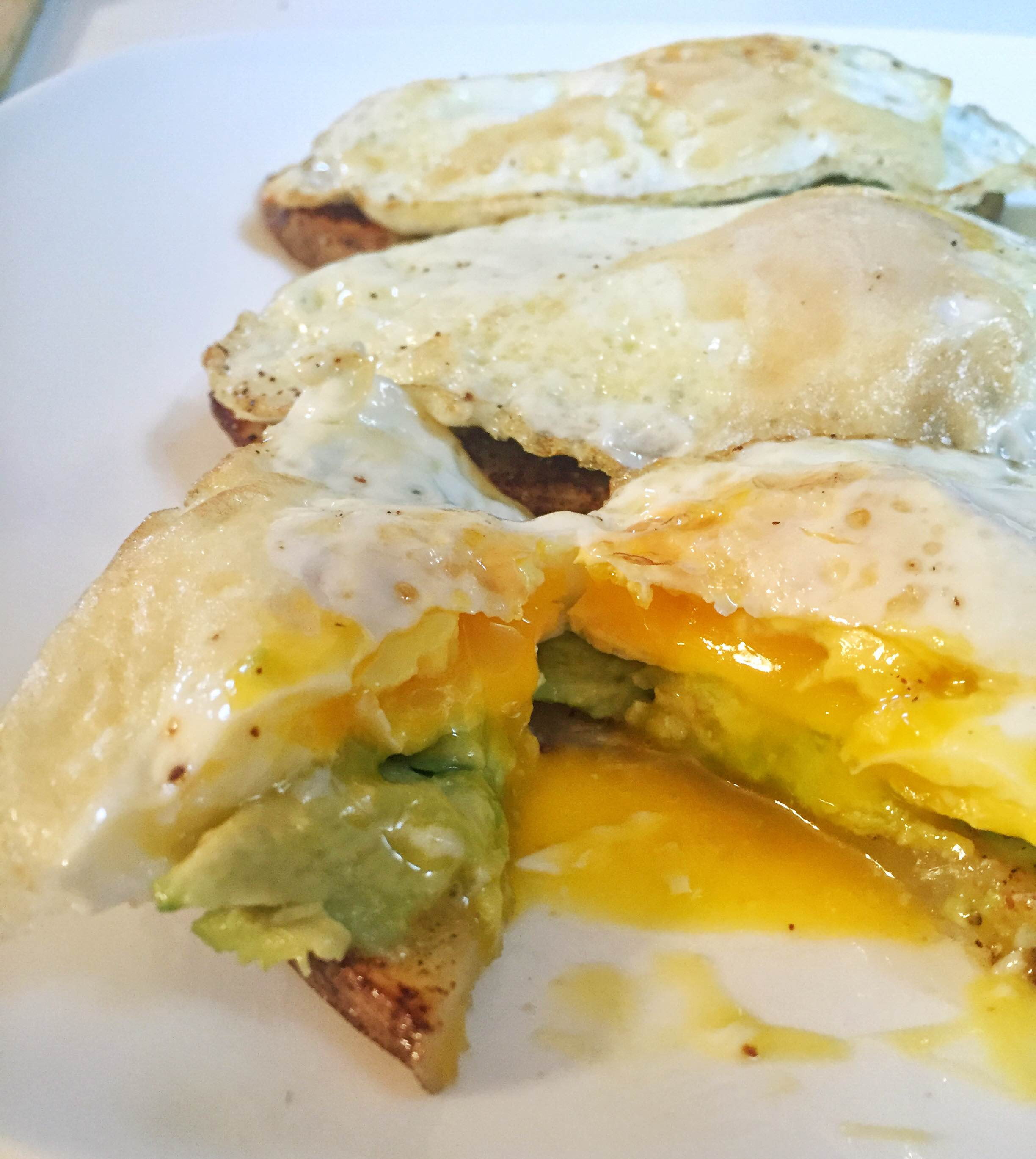 "Egg, Avocado and Potato ""toast"""