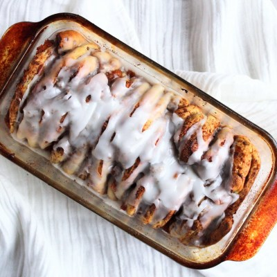 Pumpkin Pie Cinnamon Roll Pull Apart Bread