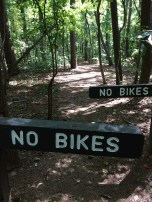 No bikes on some trails.