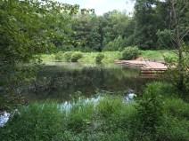 Sibley Pond dock.