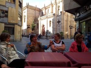 New Zealand Teachers at a bar in Salamanca, Spain
