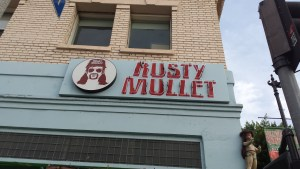 bar sign in LA that reads The Rusty Mullet