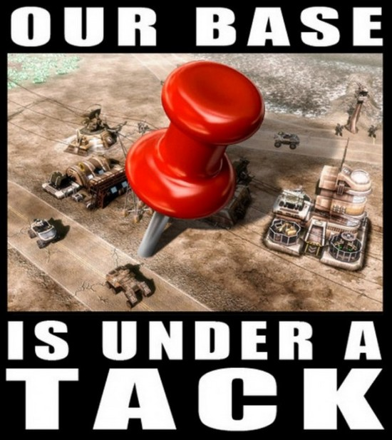Our base under a tack