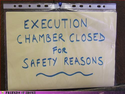 Execution chamber closed