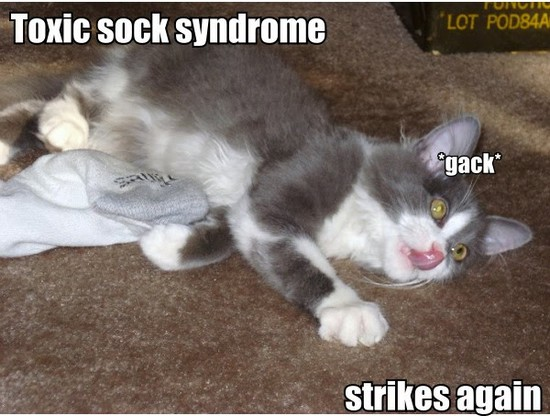 Toxic sock syndrome