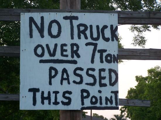 No truck passed