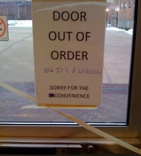 Door out of order