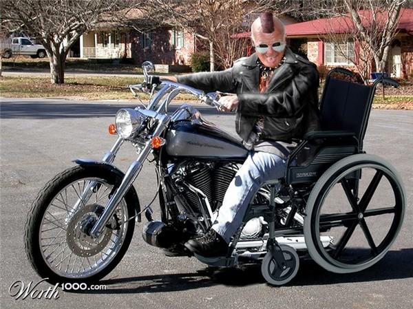 Senior biker