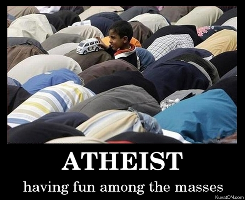 Atheist having fun